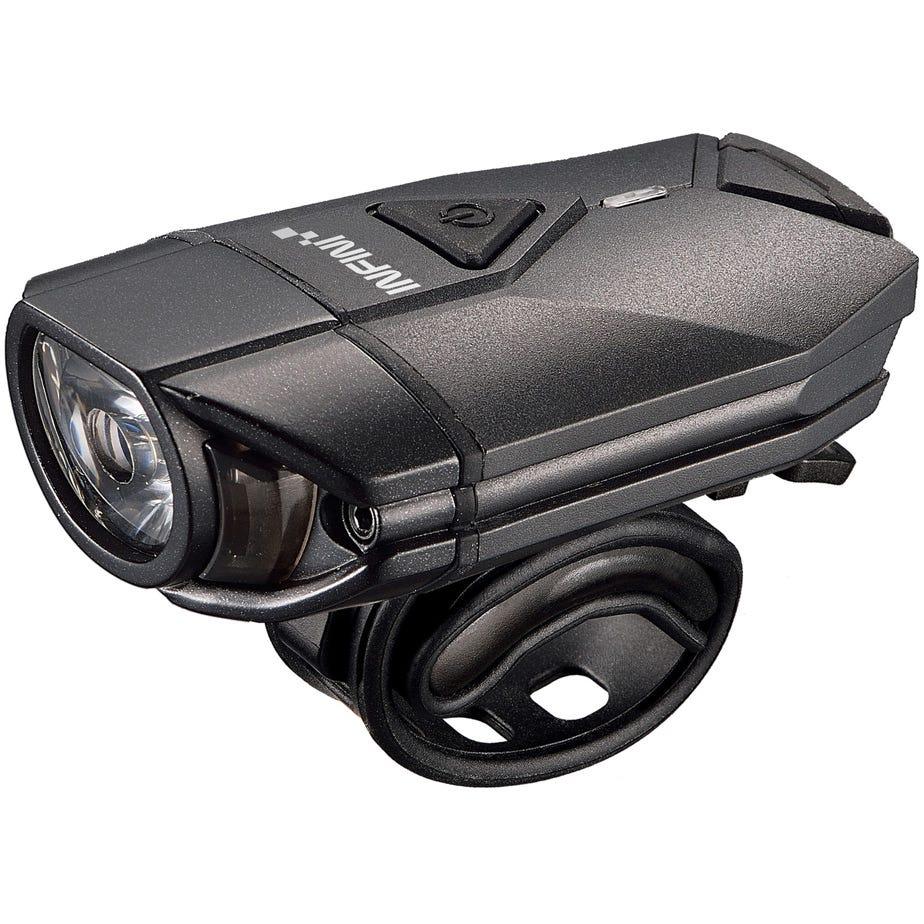 Infini Super Lava 300 lumen USB front light with bar and helmet brackets