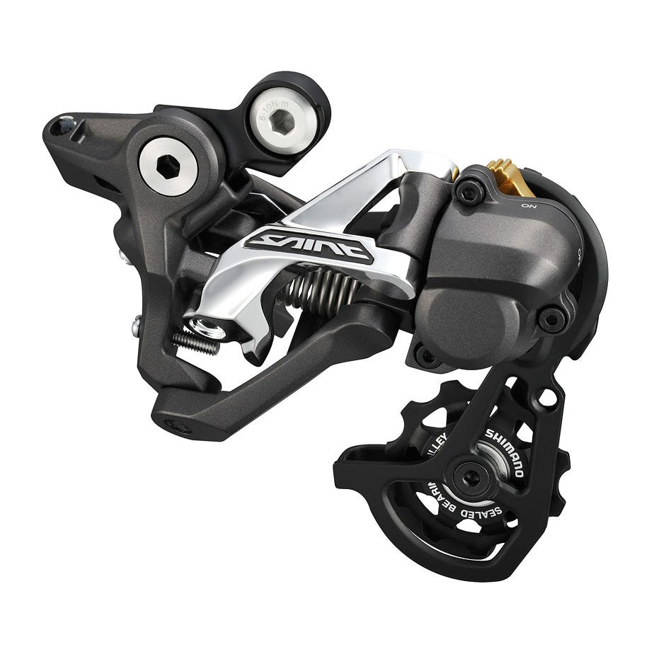 Shimano Saint RD-M820 Saint 10-speed Shadow+ design rear derailleur, SS