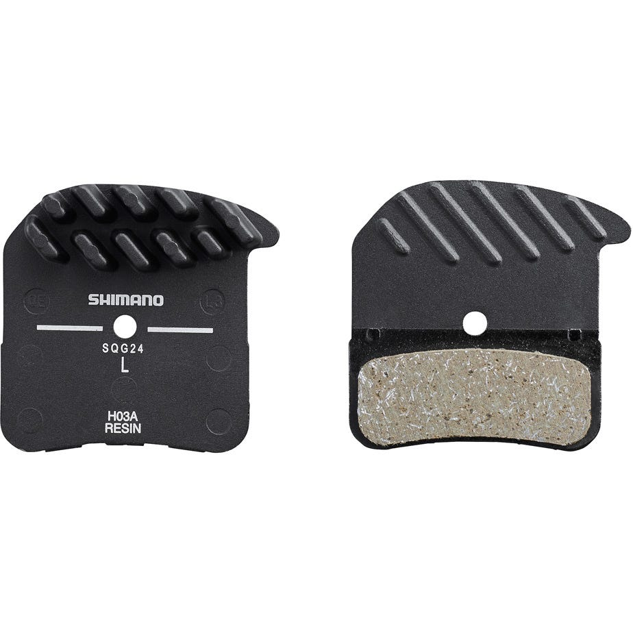 Shimano Spares H03A disc brake pads, alloy backed with cooling fins, resin