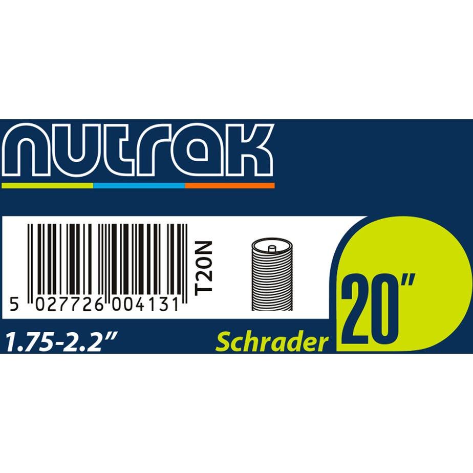 Nutrak 20 x 1.75 - 2.125 inch Schrader inner tube