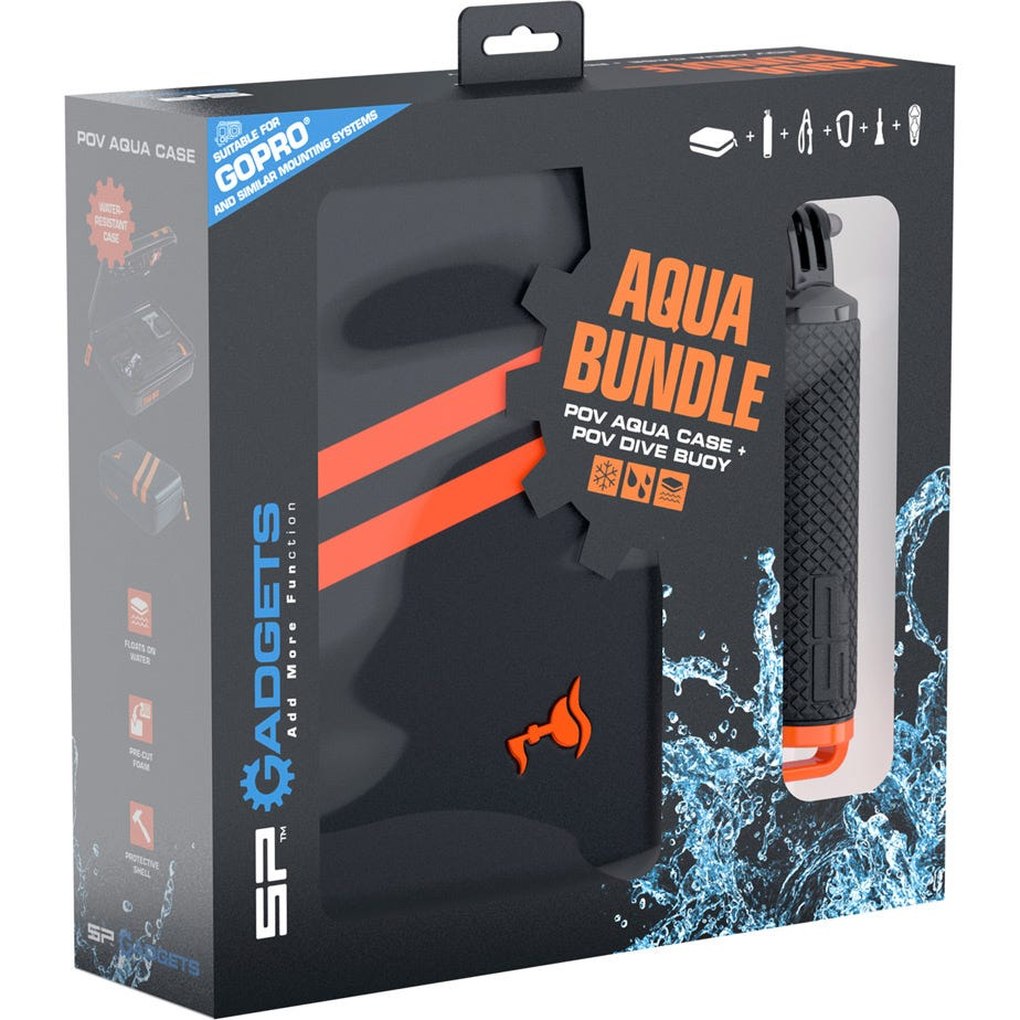 SP Gadgets Aqua Bundle - Waterproof Case and POV Dive Buoy for action cameras
