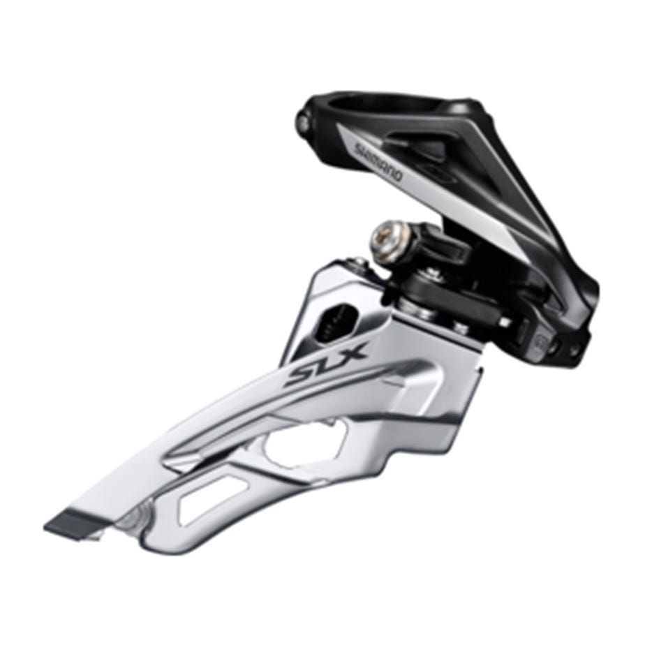 Shimano SLX SLX M672-H triple front derailleur, high clamp, side swing, front pull