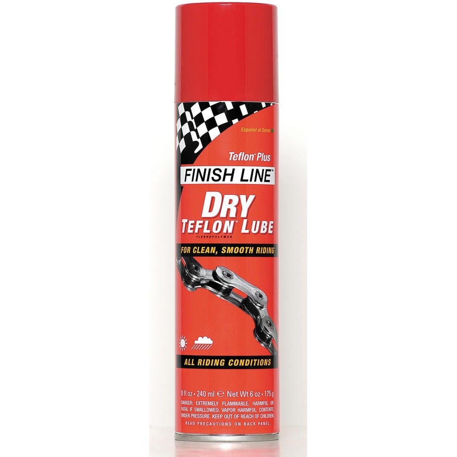 Finish Line Teflon Plus Dry chain lube - aerosol
