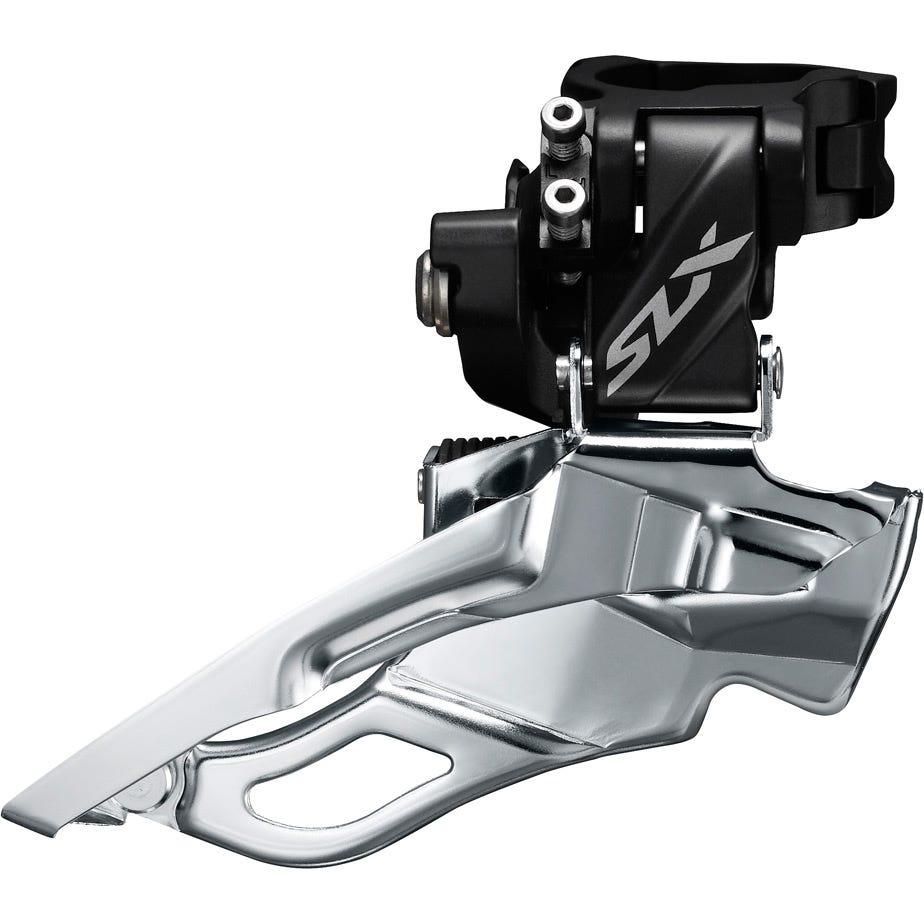 Shimano SLX SLX M7005-H triple 10-speed front derailleur, high clamp, down swing, dual-pull