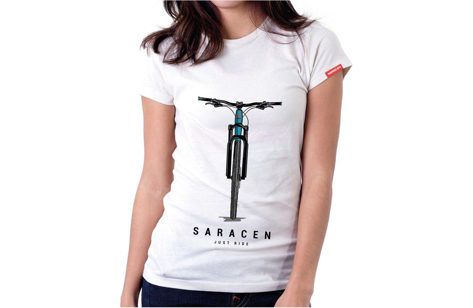Saracen Womens T-Shirt Front View Bike