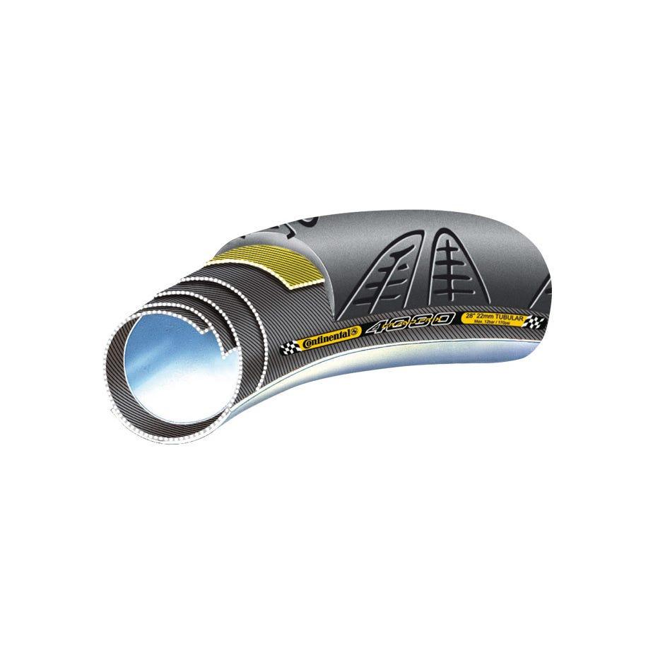 "Continental Grand Prix 4000 S II Vectran 28"" x 22 mm Black Chili Tubular Tyre"