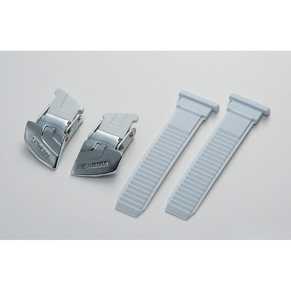 Shimano Spares Universal large buckle and strap set, silver / white