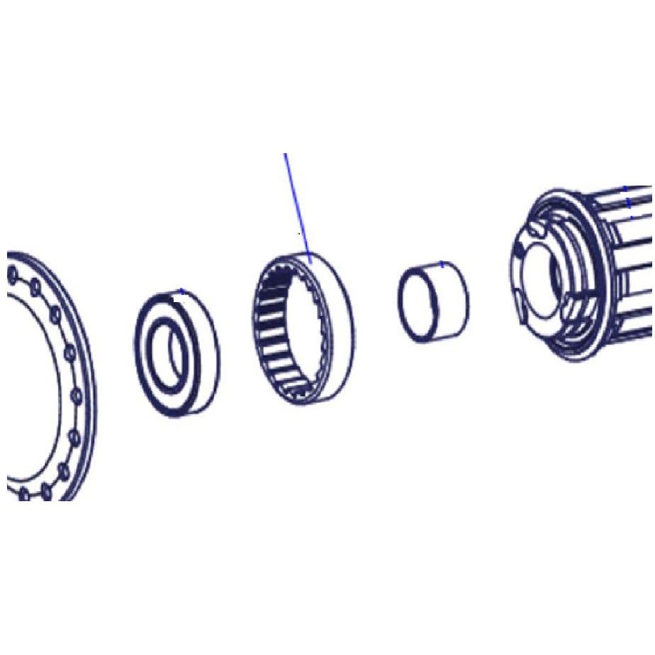 DT Swiss External screw thread ring nut M34 x 1 mm, for 3-pawl hubs