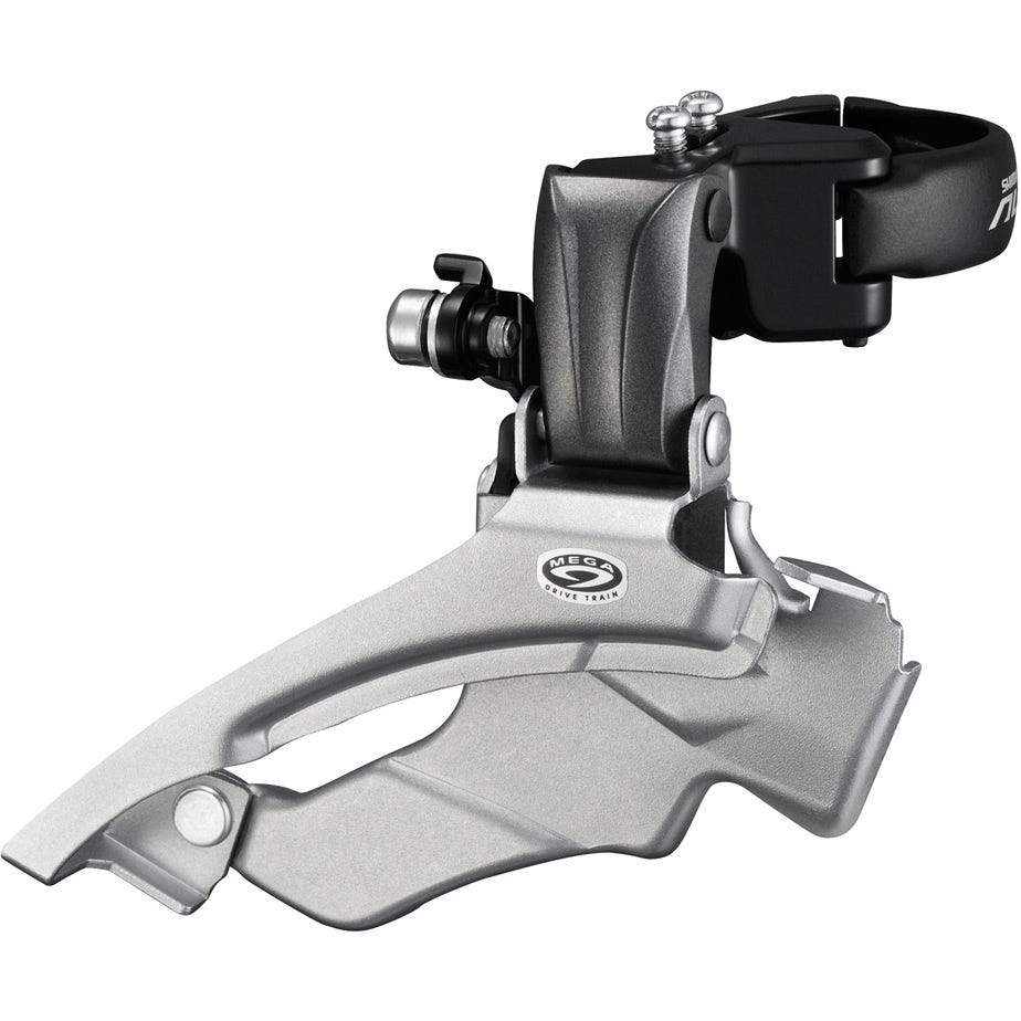 Shimano Altus FD-M371 Altus 9-speed front derailleur, conventional swing, dual-pull