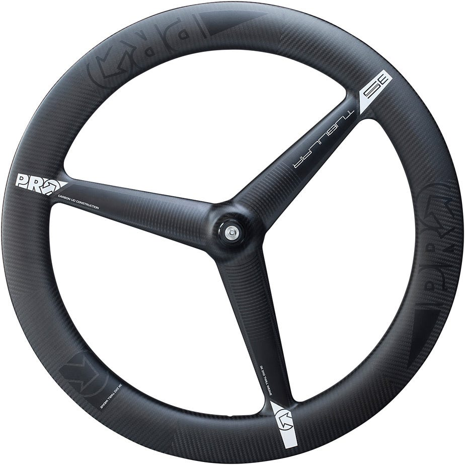 PRO 3K Carbon 3-spoke wheel - front - tubular