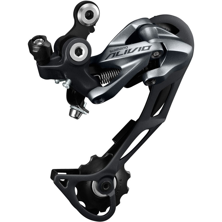 Shimano Alivio RD-M4000 Alivio 9-spd Shadow design rear derailleur, SGS, top normal, silver