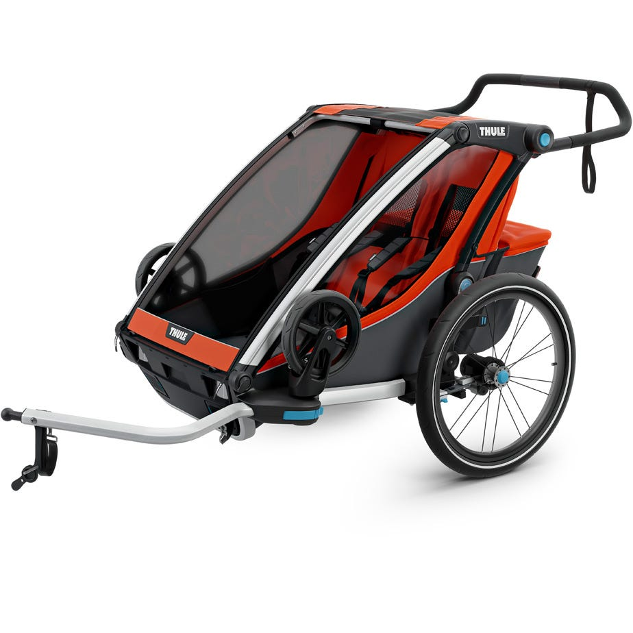 Thule Chariot Cross 2 U.K. certified child carrier with cycling and strolling kit