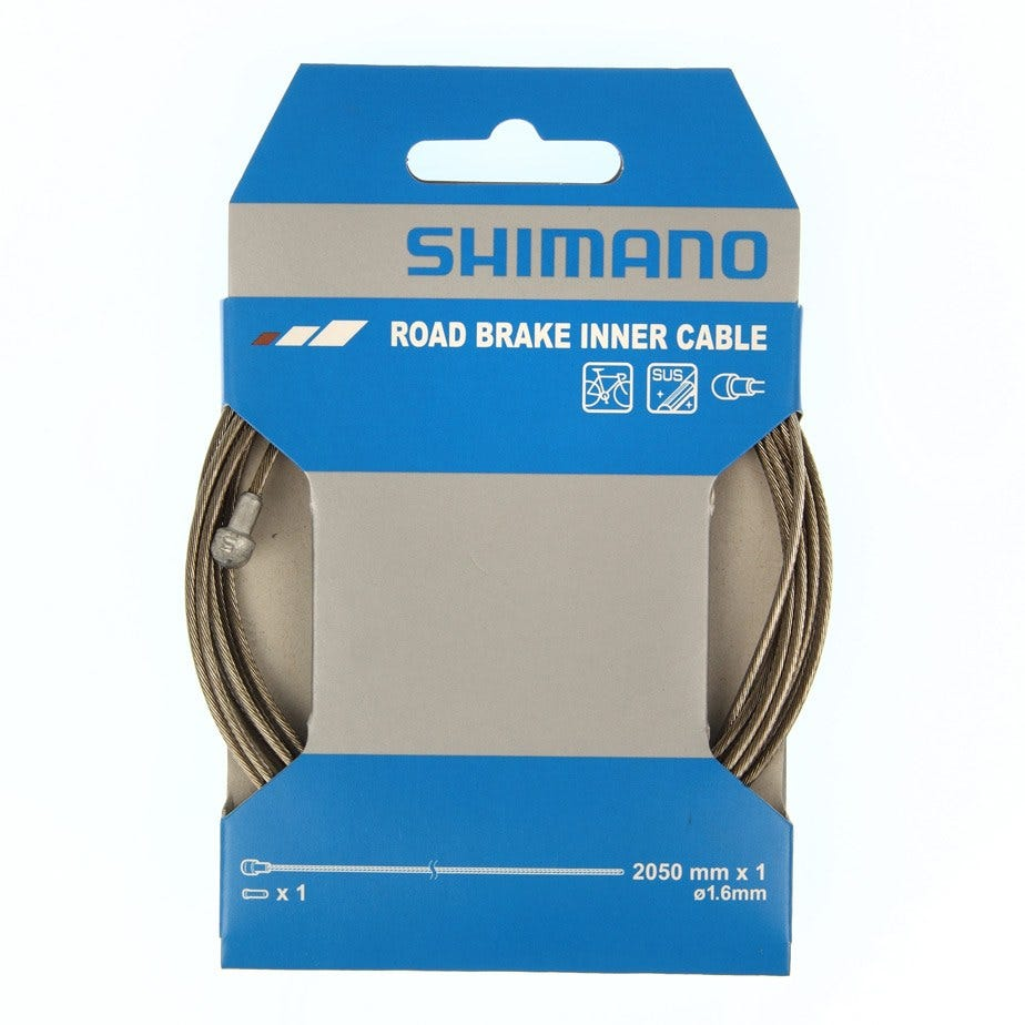 Shimano Spares Road stainless steel inner brake wire,1.6 x 2050 mm, single