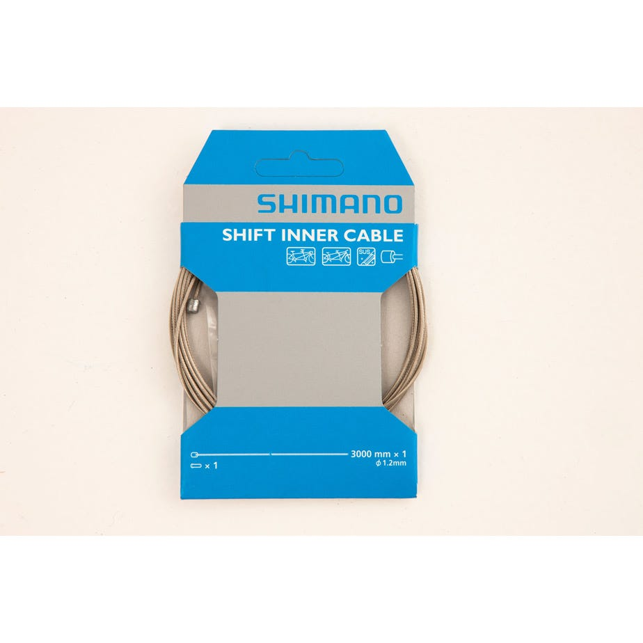 Shimano Spares Road / MTB tandem steel gear inner wire, 1.2 x 3000 mm, single