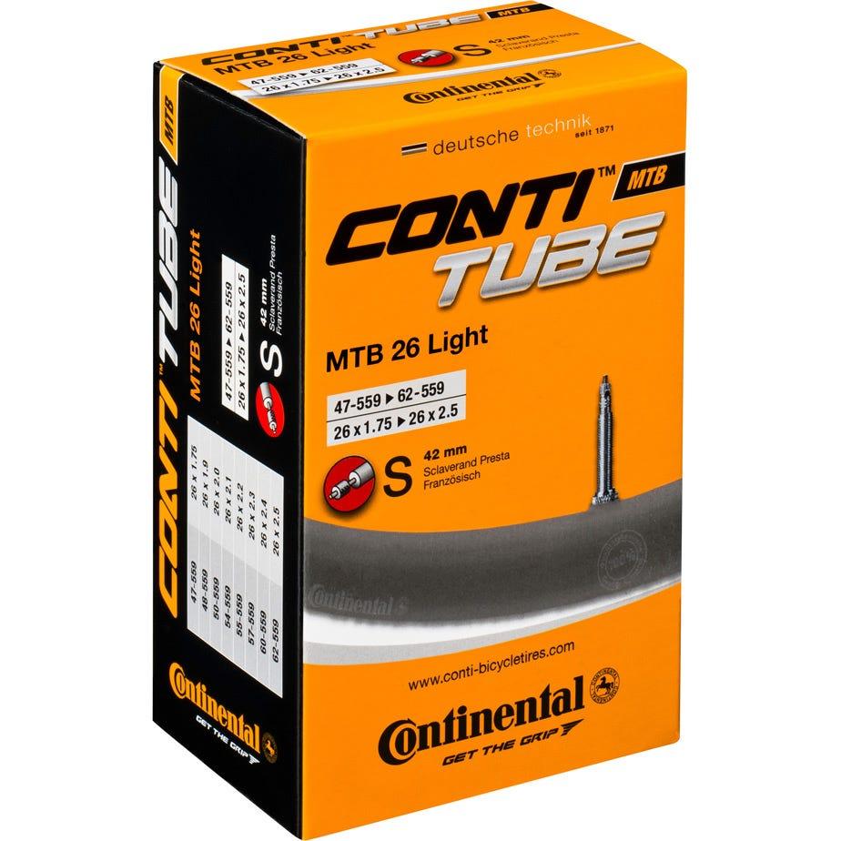 Continental MTB Supersonic 26 x 1.75 -2.2 inch 42mm Presta inner tube