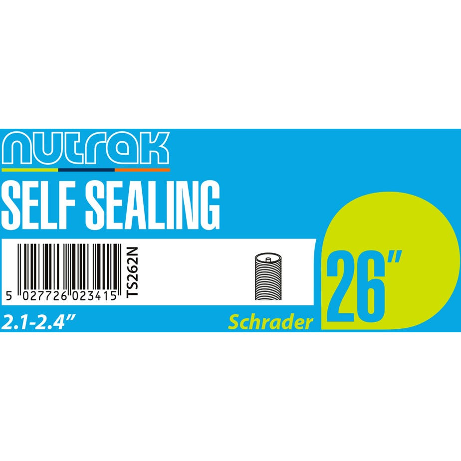 Nutrak 26 x 2.1 - 2.4 inch Schrader - self-sealing inner tube