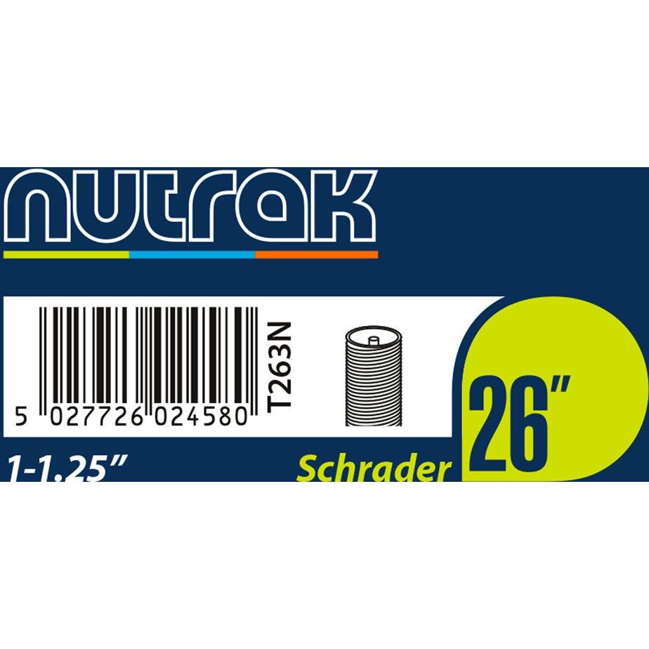 Nutrak 26 x 1 - 1.25 inch Schrader inner tube