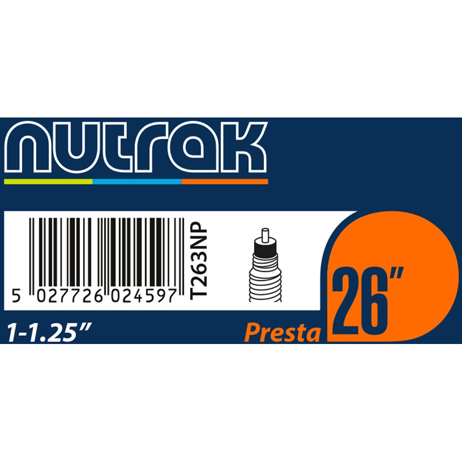 Nutrak 26 x 1 - 1.25 inch Presta inner tube
