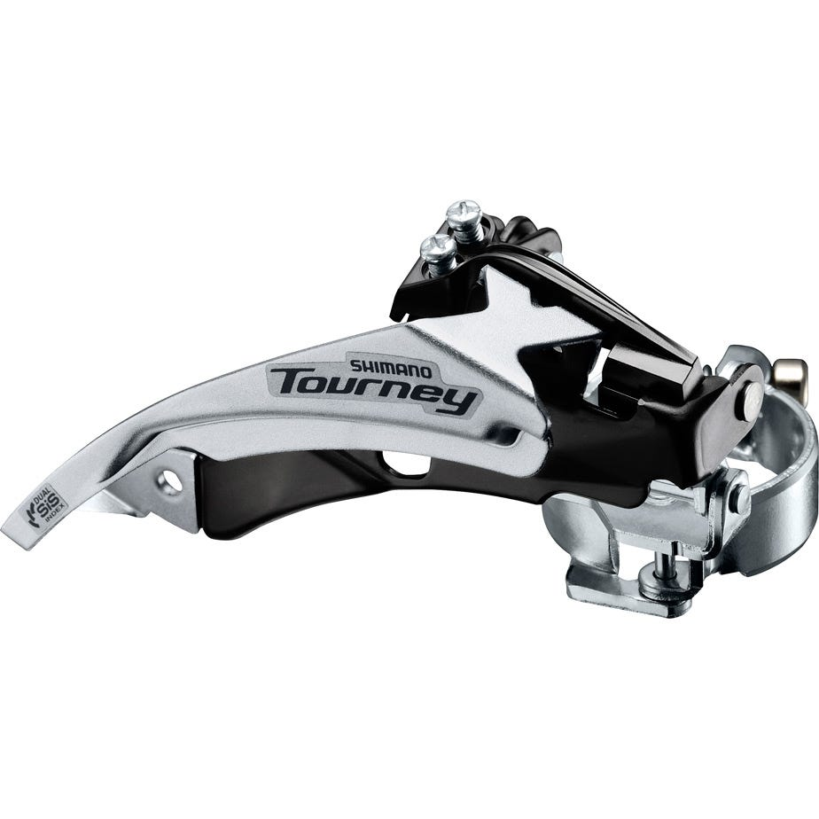 Shimano Tourney / TY FD-TY500 MTB front derailleur, top swing, dual-pull and multi fit for 42T