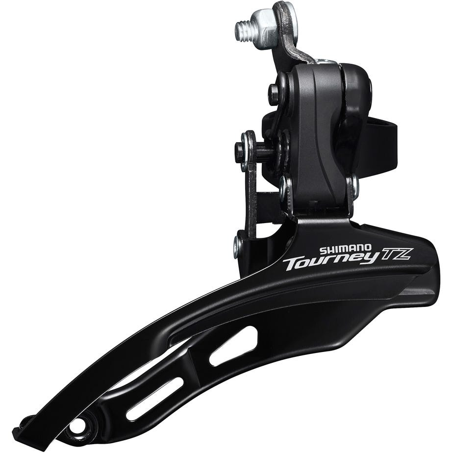 Shimano Tourney / TY FD-TZ510 6-speed MTB front derailleur, down swing, down pull, 31.8mm, 66-69, 48T