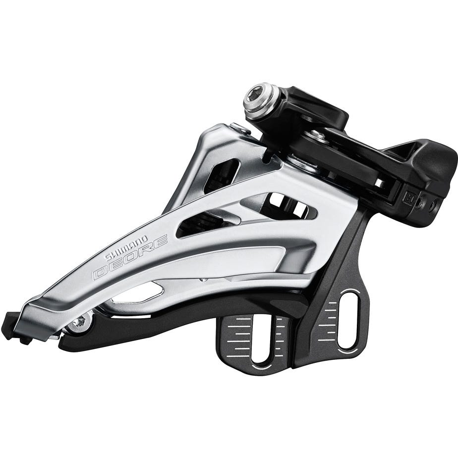 Shimano Deore Deore M6020-E double front derailleur, E-type mount, side swing, front pull