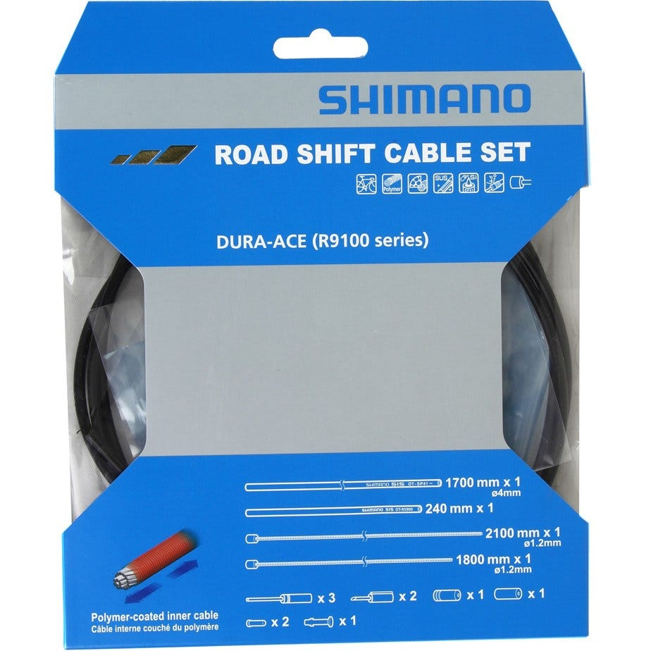 Shimano Spares Dura-Ace RS900 Road gear cable set, Polymer coated inners