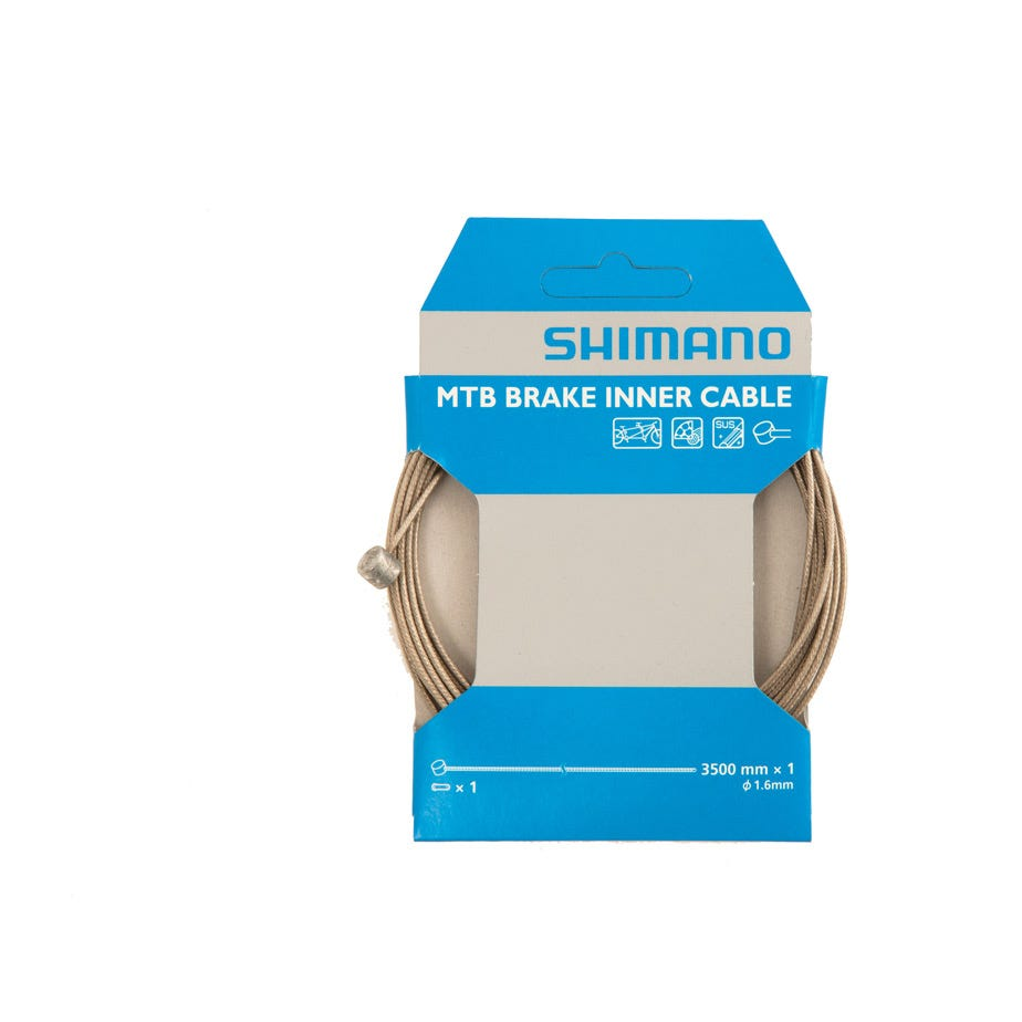 Shimano Spares MTB tandem stainless steel inner brake wire,1.6 x 3500 mm, single