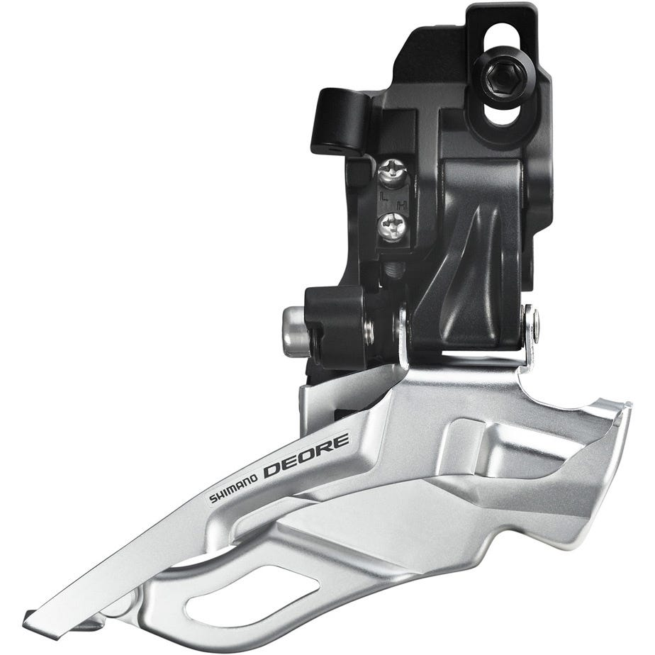 Shimano Deore FD-M611 Deore 10-speed triple front derailleur, top-pull, direct-fit, black