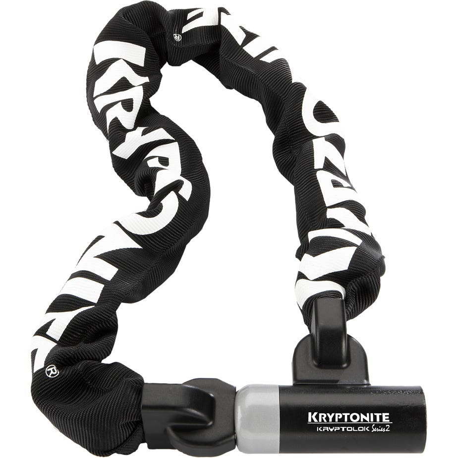 Kryptonite Kryptolok 995 Integrated Chain - 9.5 mm X 95 cm Sold Secure Silver
