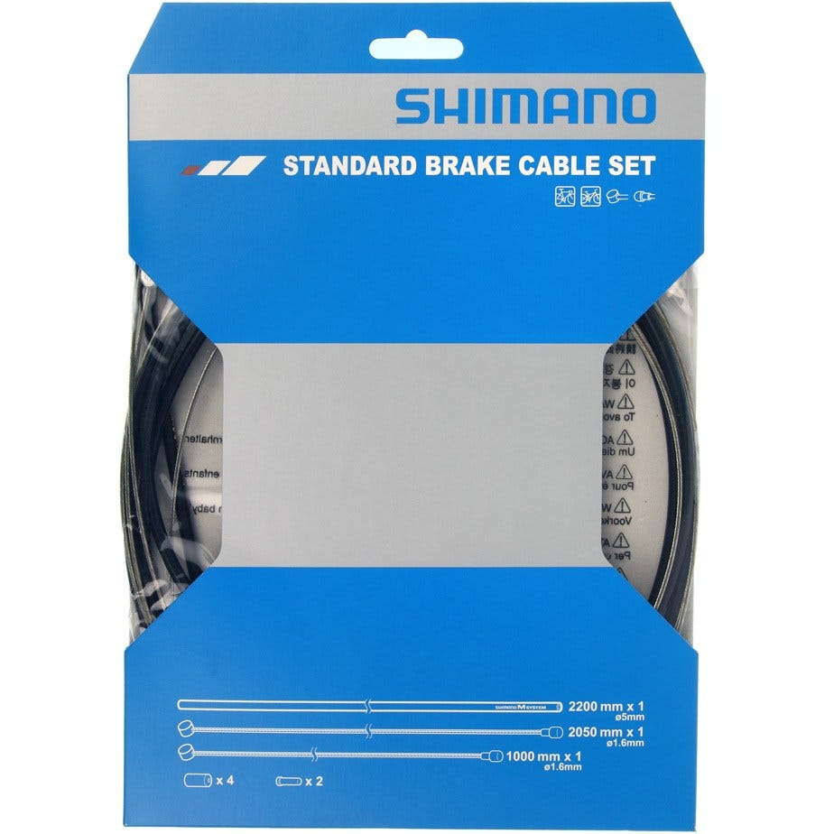Shimano Spares Road / MTB brake cable set, black