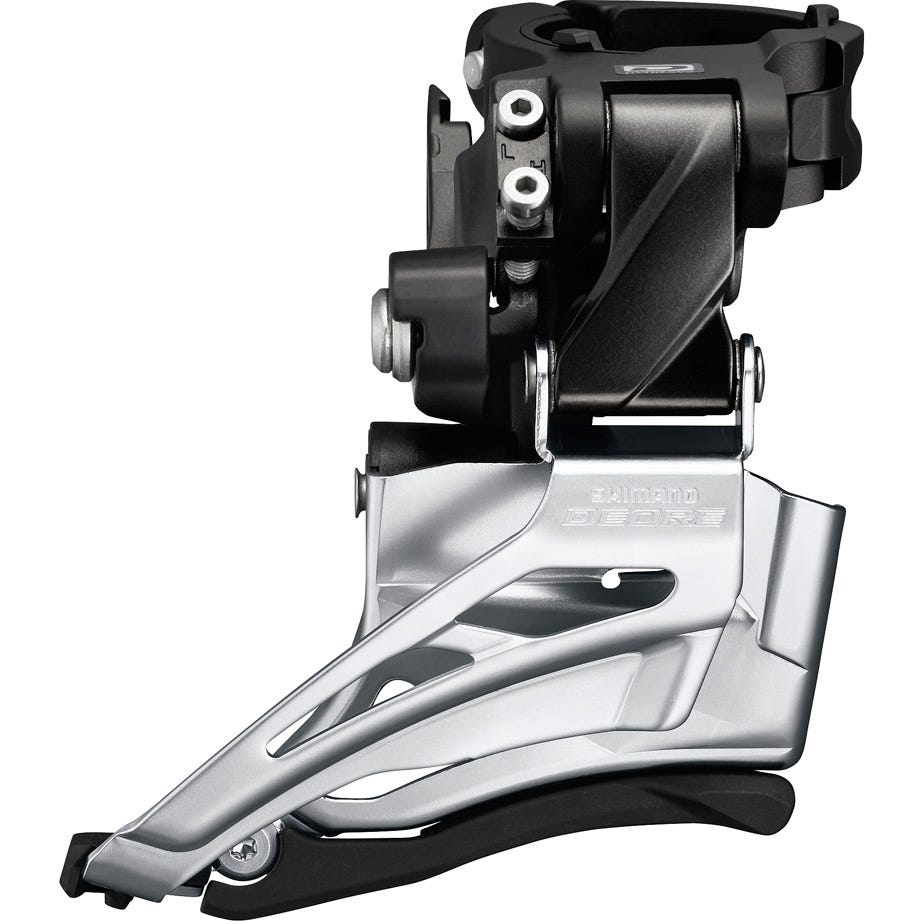 Shimano Deore Deore M6025-H double front derailleur, high clamp, down swing, dual pull