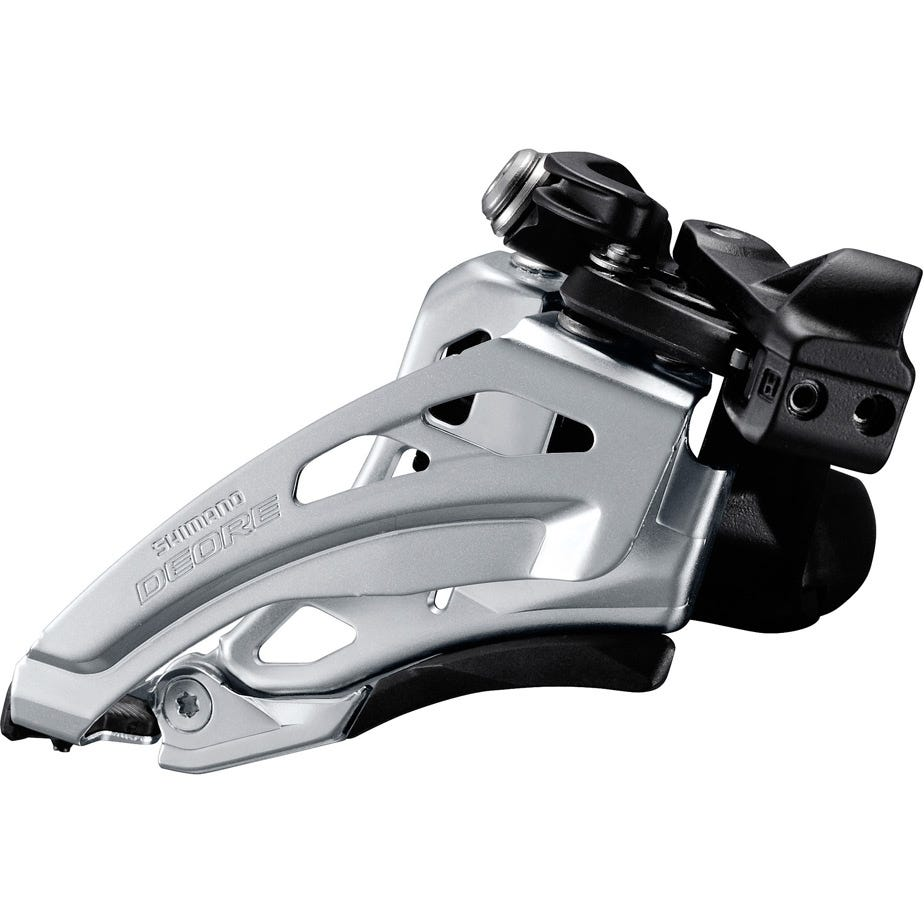 Shimano Deore Deore M617-L double front derailleur, low clamp, side swing, front pull