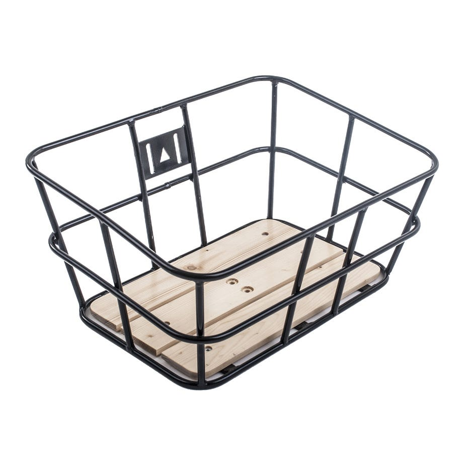 M Part Portland tubular metal basket with wooden base