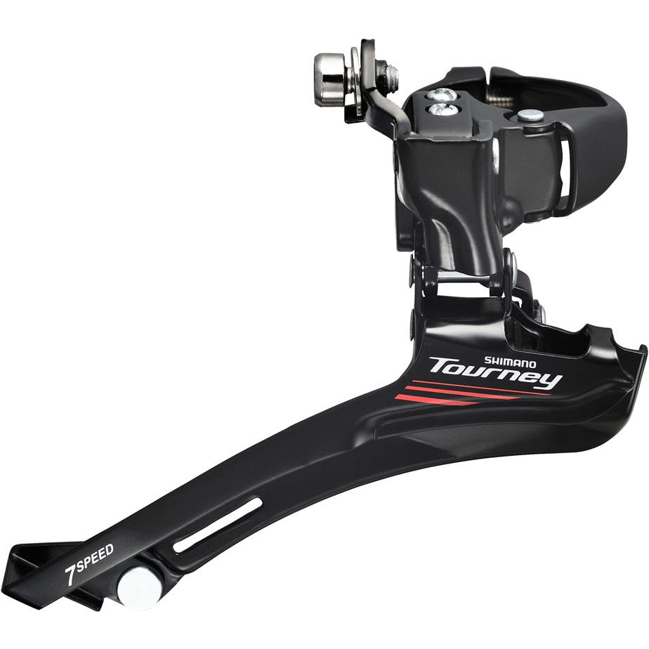 Shimano Tourney / TY FD-A073 7-speed front derailleur, triple 28.6 / 31.8 / 34.9 mm