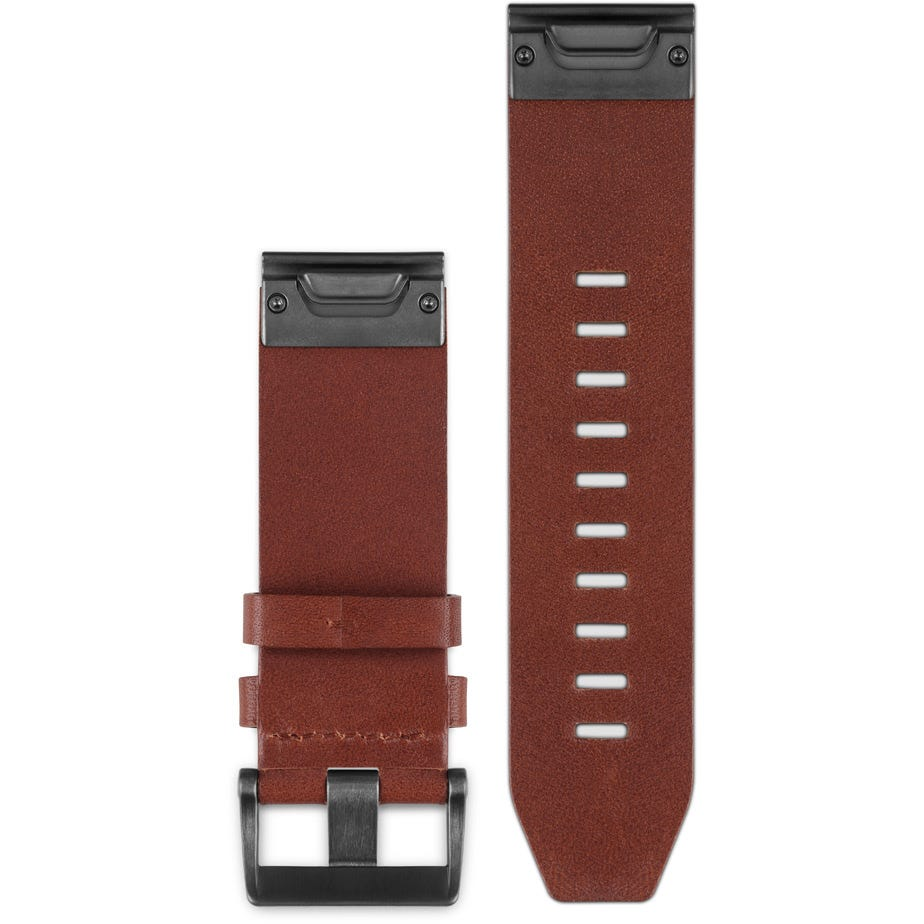 Garmin Quickfit 22 watch band - brown leather
