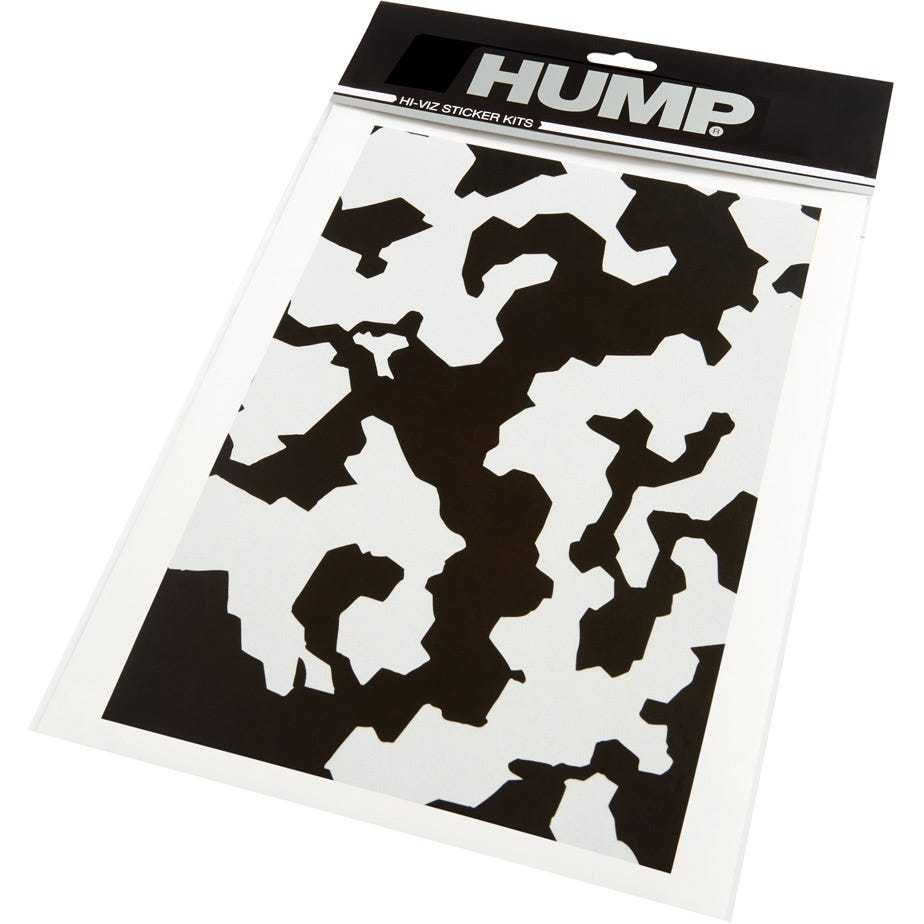 Hump Hi-Viz reflective sticker sheet, camo