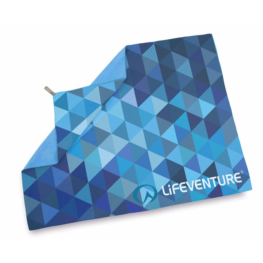 Lifeventure SoftFibre Advanced Trek Towel - Giant - Blue Triangles