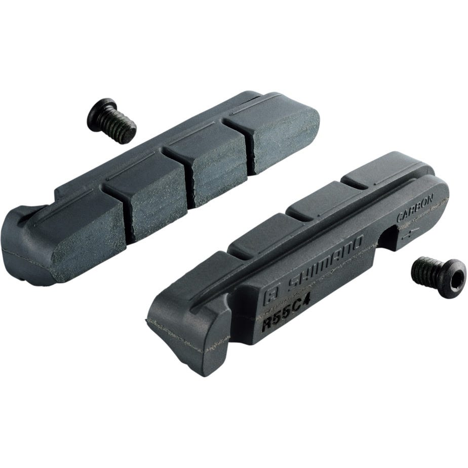 Shimano Spares R55C4-1 brake shoes inserts and fixing bolts, for carbon rim, pair