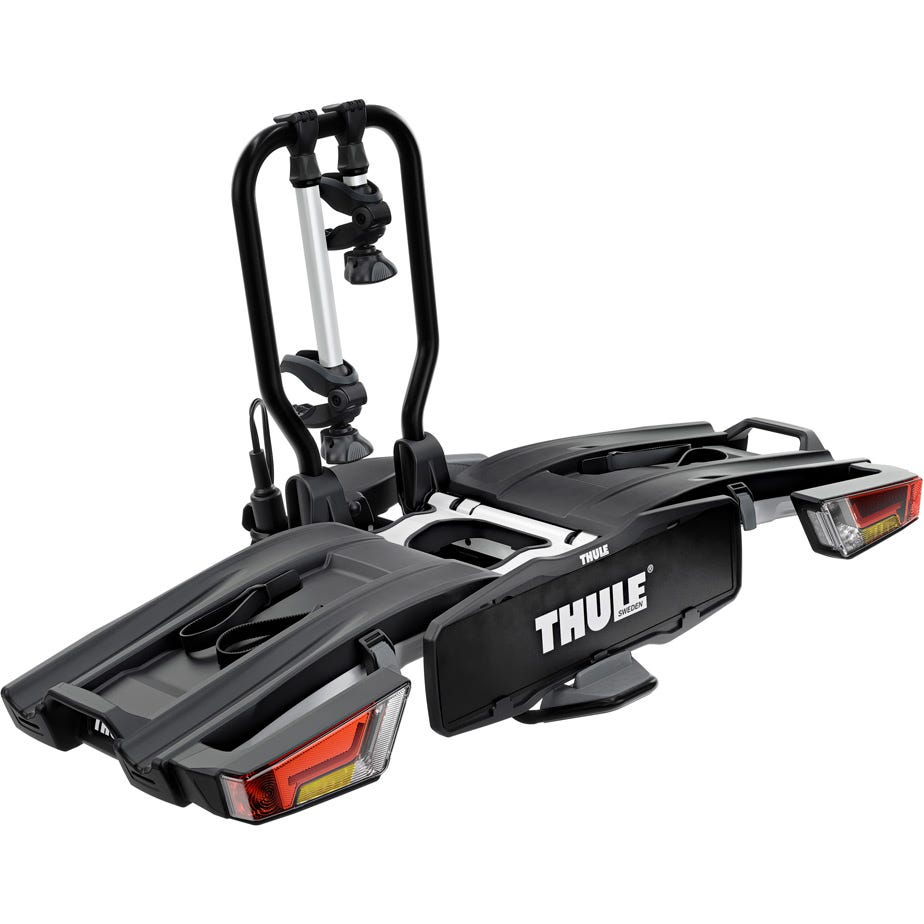 Thule 933 EasyFold XT 2-bike towball carrier with AcuTight torque knobs 13-pin