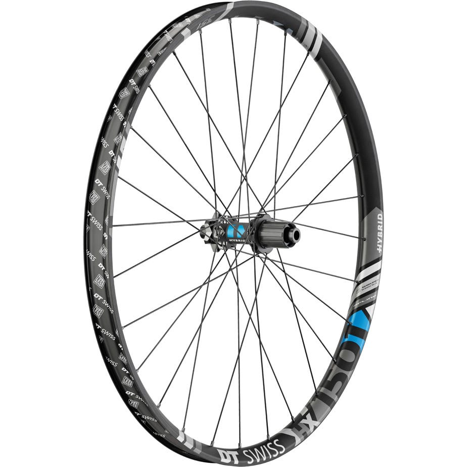 DT Swiss HX 1501 Hybrid wheel, 35 mm rim, 12 x 148 mm BOOST axle, 27.5 inch rear