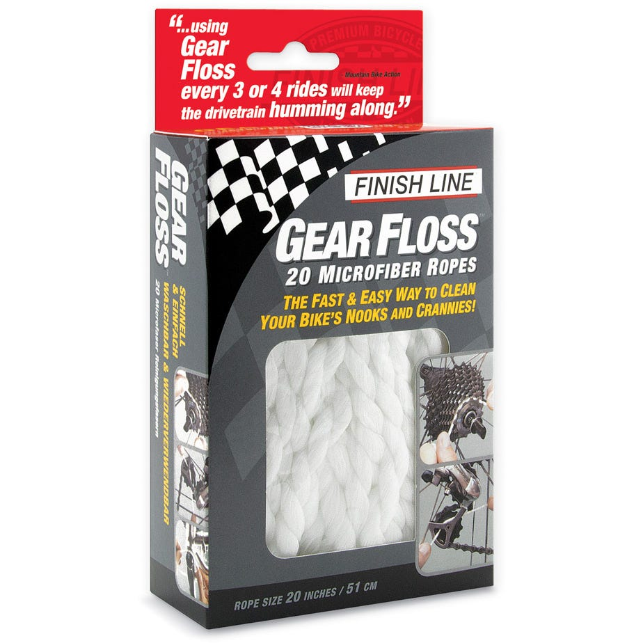 Finish Line Gear Floss, 20 pieces per clam-shell