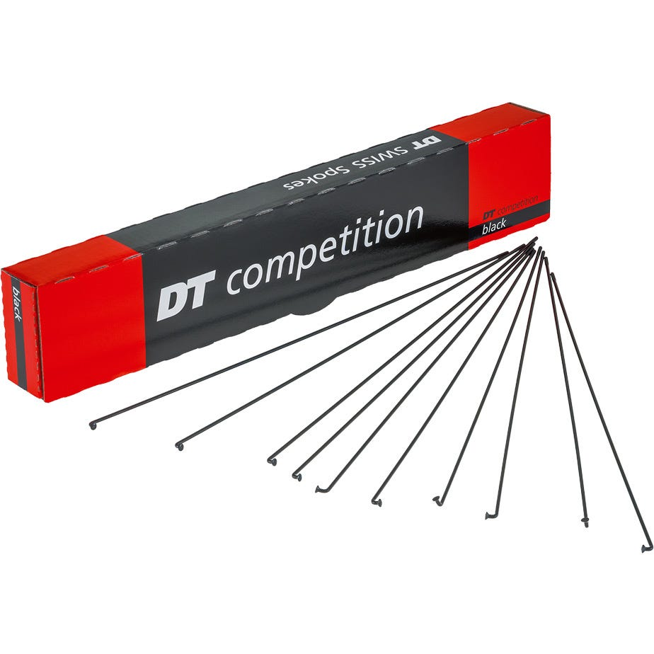 DT Swiss Competition black spokes 14 / 15 g = 2 / 1.8 mm box 500, 292 mm