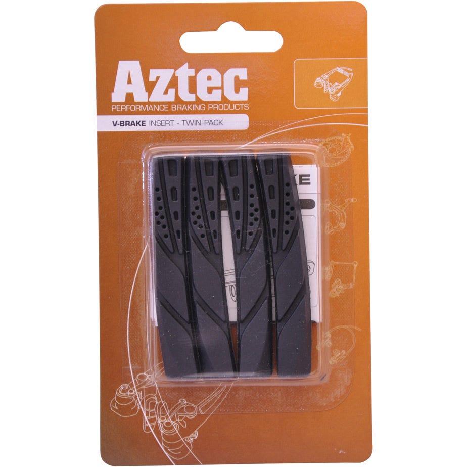 Aztec V-type insert brake blocks standard, pack of 2 pairs
