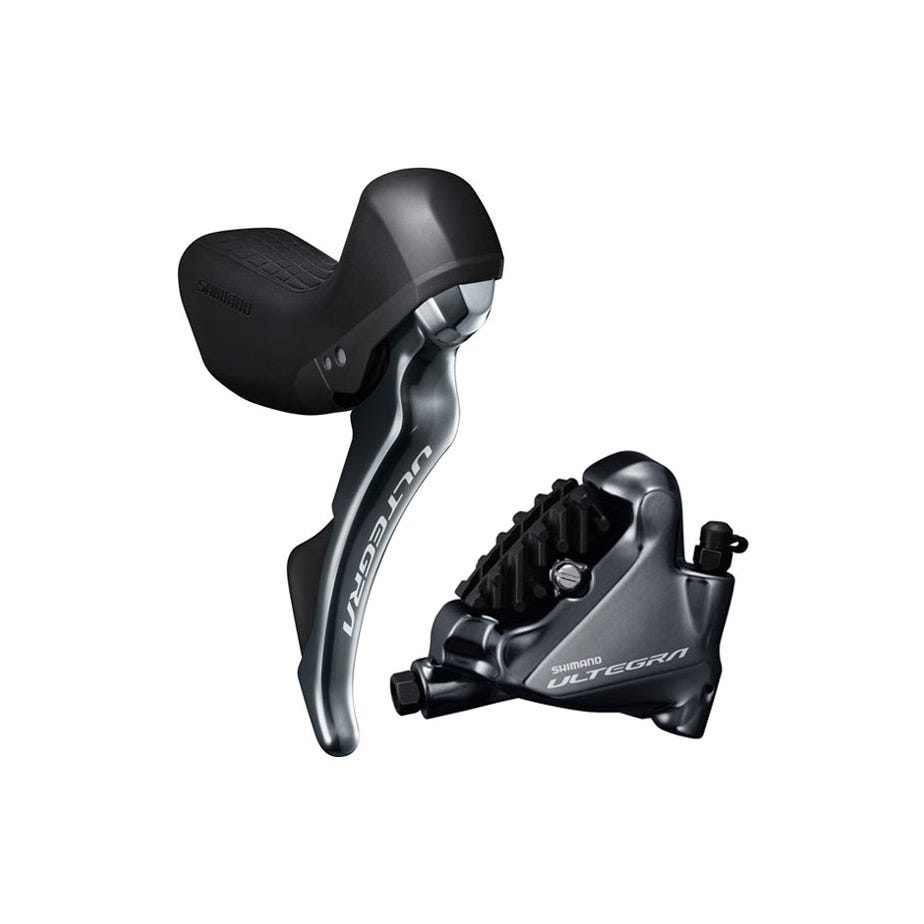 Shimano Ultegra ST-R8020 bled hydraulic disc, mechanical STI set, flat mount calliper