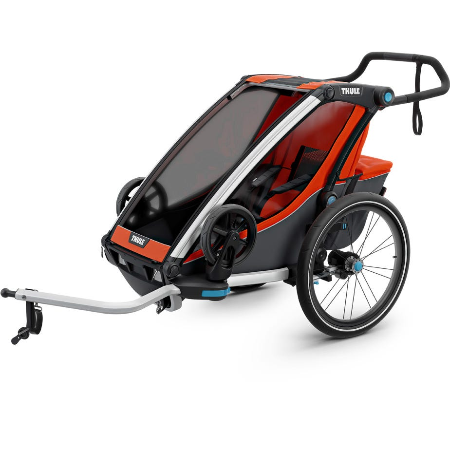 Thule Chariot Cross 1 U.K. certified child carrier with cycling and strolling kit