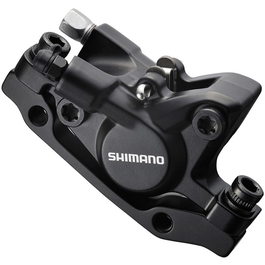 Shimano Deore BR-M446 disc brake calliper, without adapter for front or rear, black