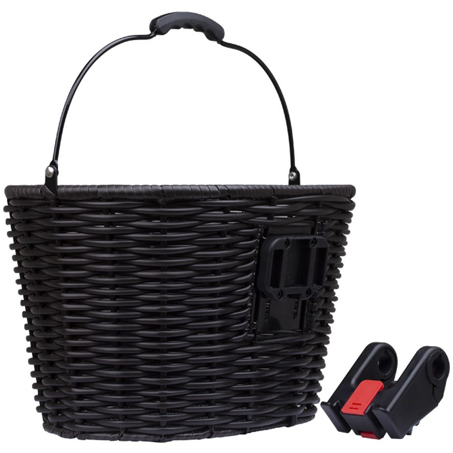 M Part Stockbridge woven plastic basket with handle and QR plate