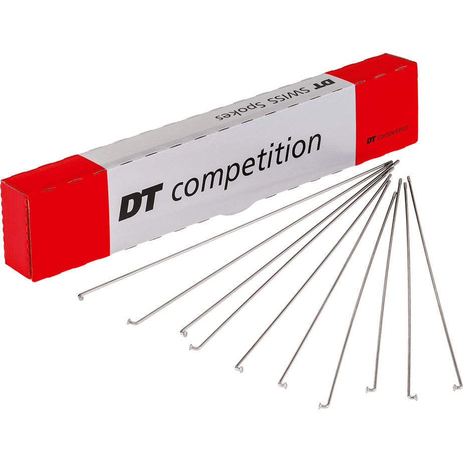 DT Swiss Competition silver spokes 14 / 15 g = 2 / 1.8 mm box 500, 281 mm