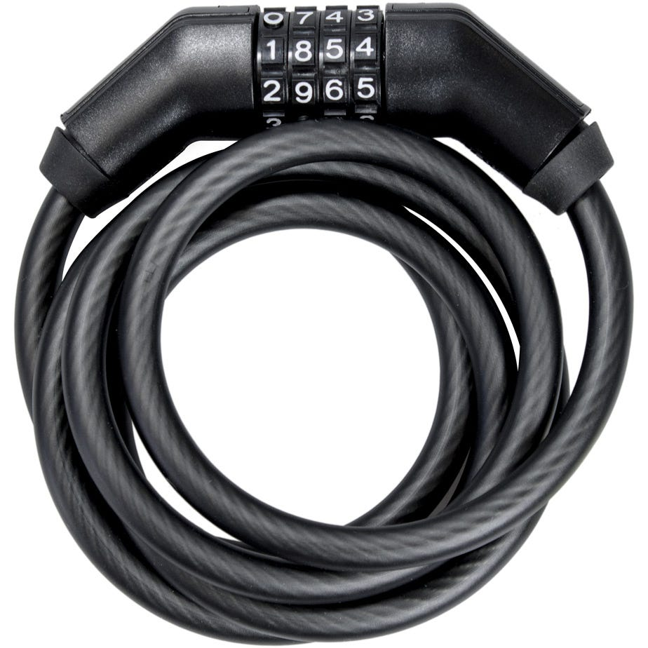 Trelock Coiled Cable Lock SK260 180x10mm Combo