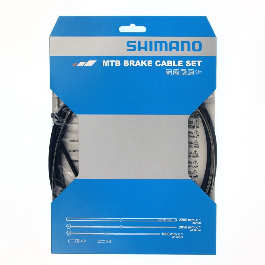 Shimano Spares MTB XTR brake cable set with stainless steel inner wire, black